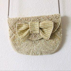 Beaded embellished vintage bag